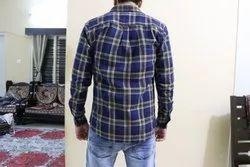 Cotton Casual Wear Mens Slim Fit Check Shirt