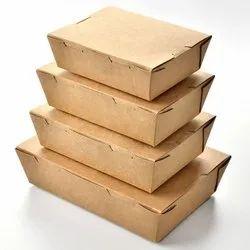 Brown Prakritii Paper Food Boxes, For Take-away