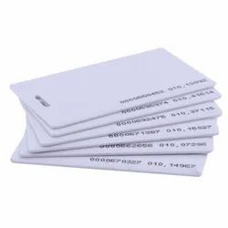 Rectangular Plain White Proximity Cards