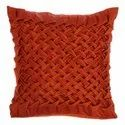 Designer Bright Red Handcrafted Satincushion Cover