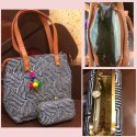 "Sheenaz Combobag Summer Handbag, 650 Grms, Size: 13""*11""*7""*5"""