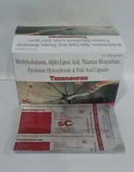Tazaneuron Mecobalamin, Alpha Lipoic Acid, Thiamine Mononitrate and Pyridoxine, Folic Acid Capsules