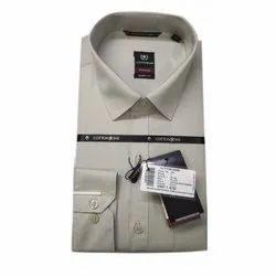 Cotton Zone Poly Cotton Men Plain Fancy Shirt, Size: S-XXXL