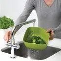 Multicolor Plastic Vegetables Washer Basket, For Home