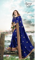 Party Wear Designer Vichitra Silk Saree