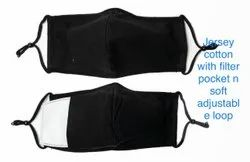 JERSEY COTTON MASK WITH FILTER POCKET