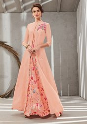 Pr Fashion Grab This Beautiful Designer Readymade Gown In Two Layer Consist