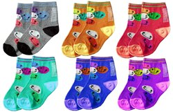 Supersoft Organic Cotton Towel Socks with Cute Designs for Baby Boys & Girls, 6-12 months