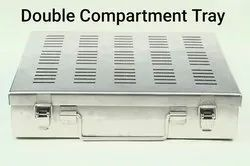 STERILIZATION TRAY WITH DOUBLE COMPARTMENT