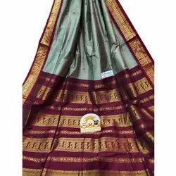 Bengoli Saree Printed Ladies Gadwal Sarees, 5.3 M