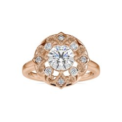 DEF Round Cut Full White Moissanite Ring White,Yellow,Rose Gold For Engagement