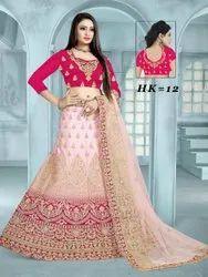 Ethnic Bollywood Traditional Silk Bridal Lehenga Choli