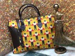 SHEENAZ SLING Executive Ikkat Bags, 350 Grms, Size: 17