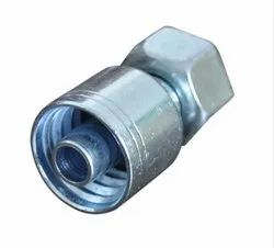 Carbon Steel Threaded SAE 100R16 Single Piece Non Skive Fittings, For Hydraulic Pipe