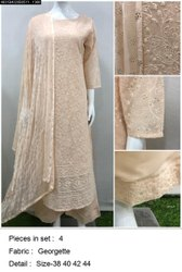Party Wear 3/4th Sleeve Kurti Suit