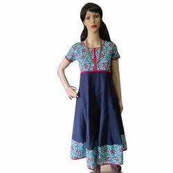 Paris Hub Cotton Kalamkari Work Ladies Suit, Machine wash