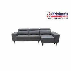 Grey Leather Sofa Set
