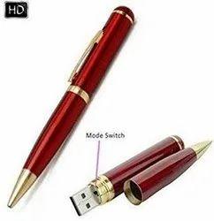 Spy HD Pen Camera with Voice-Video Recorder-16GB Inbuilt USB Flash Drive Stick- Mini Pin-Hole Camera