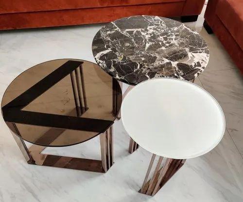 Coffee Table Set Nesting, Rubik Round Coffee Table