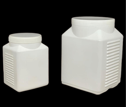HDPE Rectangular White Plastic Container, For Pharma and Food Industry