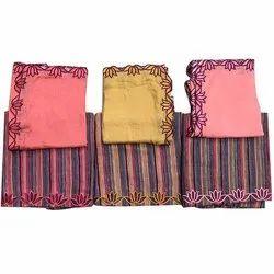Ladies Fancy Cotton Unstitched Suits