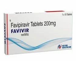Favivir Favipiravir 200mg Tablets, Packaging Size: 1x10