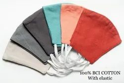 3 Layer Cotton Reusable Face Mask Solid Colours