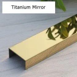 Decorative Gold U Profile 6x6x6