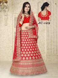 Semi Stitched Ethnic Bridal Lehenga