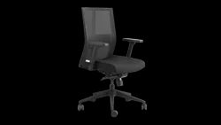 Mesh And Fabric Aero Mid Back Synchro Chair - Adjustable Armrest, Standard Colors