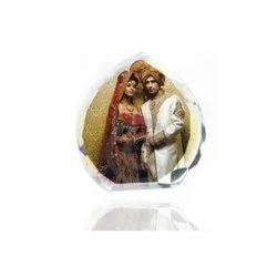 Wedding Crystal Photo Frame, For Decoration, Size: L 85 X H 88 X W 30 Cm