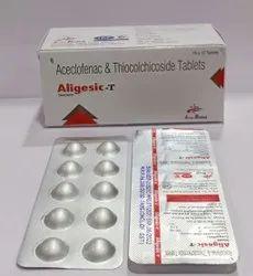 Aceclofenac 100 mg,Thiocolchicoside 4mg Tablet