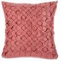 Peach Handmade Square Cushion Cover