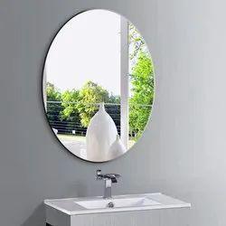 Wall Mounted Bathroom Glass Mirror, Size: 14 Inch