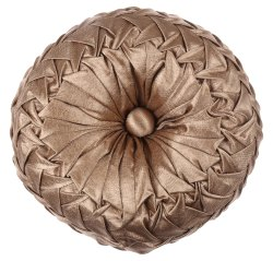 Designer Golden Knitted Cushion Cover