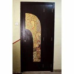 Wood Brown Designer Safety Door, For Home