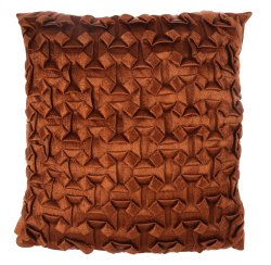 Burnt orange square cushion cover