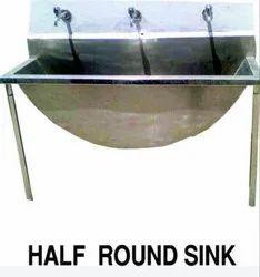 Half Round SS Kitchen Sink