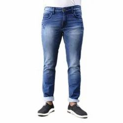 Casual Wear Blue Mens Stretchable Denim Jeans, Waist Size: 28 To 38 Inch