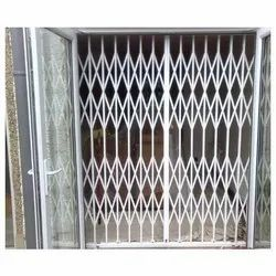 Mild Steel collapsible gate, For Home