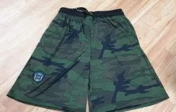 Cotton Army Printed Sports Shorts Pant, Size: Free