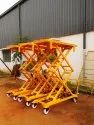 SCISSOR LIFT TROLLEY  MOVABLE- LEG PUMP