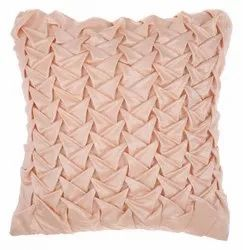 Peach satin cushion cover