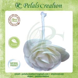 White Sola Rose Flower, One, Packaging Size: Single Pc Box Pack