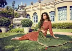Multicolor Palazzo Latest Silk Embroidered And Hand Work Suit