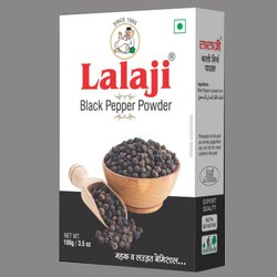 Lalaji Black Pepper Powder, Packaging Size: 100g