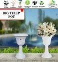 Tulip Pot-18'' White