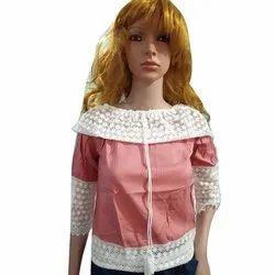 Shivi Party Wear Ladies Fancy Cotton Top, Size: L, XL