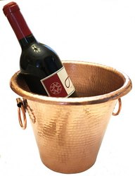 Copper Hammered Wine Bucket