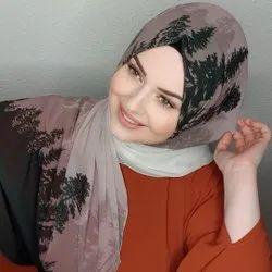 Printed Soft Bsy Magic Fabric Hijab Scarf
